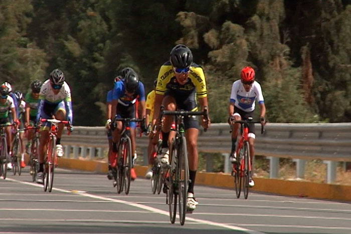 Andy Portillo ganó carrera ciclista en Zacatelco