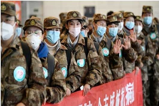 China movilización militar coronavirus